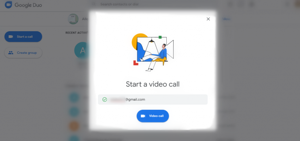 Tap on Video Call button