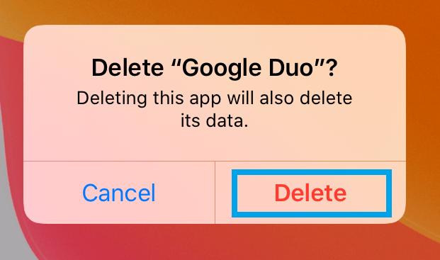 Delete Duo App on iPad
